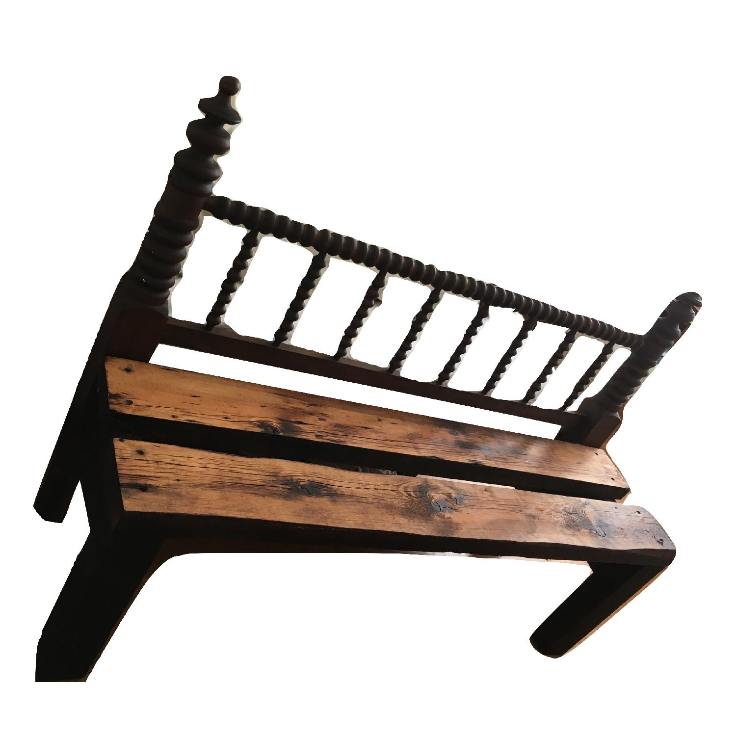 Antique Indoor Outdoor Patio Headboard Bench-0