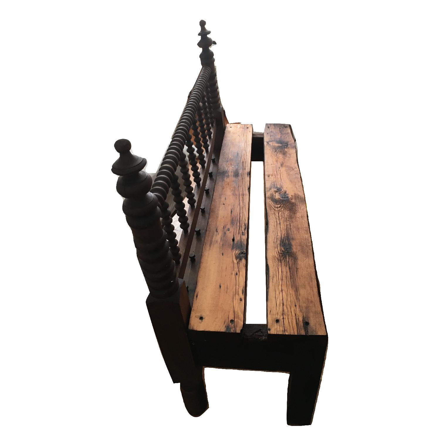 Antique Indoor Outdoor Patio Headboard Bench-4