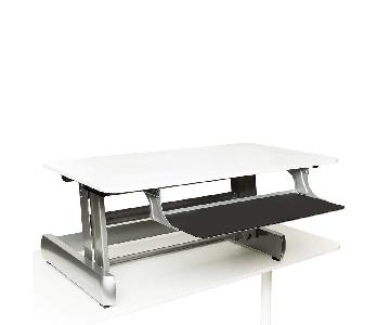 Staples InMovement Standing Desk in White