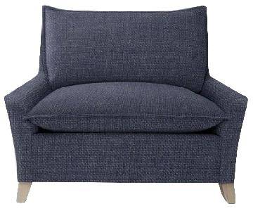 West Elm Bliss Down-Filled Chair and a Half & Ottoman