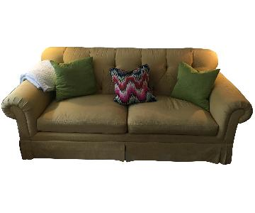 Light Yellow Upholstered Sofa