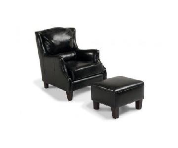 Bob's Rondo Armchair & Ottoman in Licorice