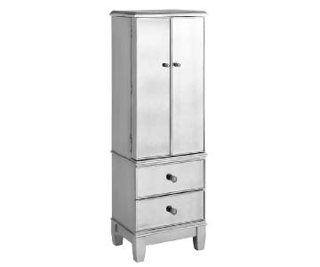 Pier 1 Mirrored Silver Jewelry Armoire