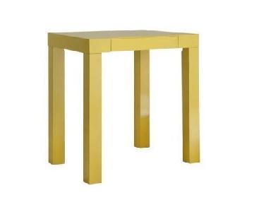 West Elm Yellow Lacquer Mini Desk