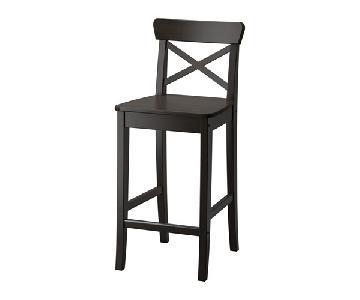 Ikea Black Ingolf Stool