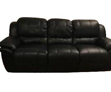Bob's Faux Leather Queen Bob-O-Pedic Sleeper Sofa