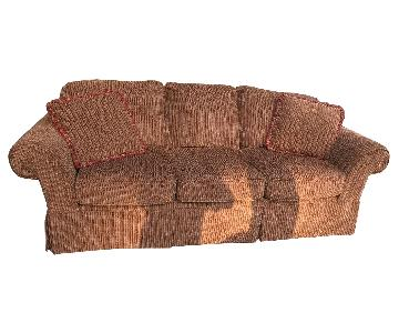 Brown Slipcovered 3 Seater Sofa