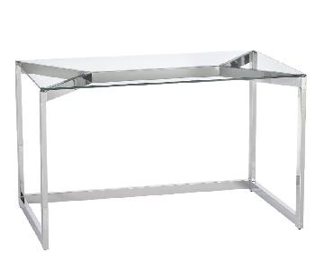 CB2 Tesso Chrome Desk
