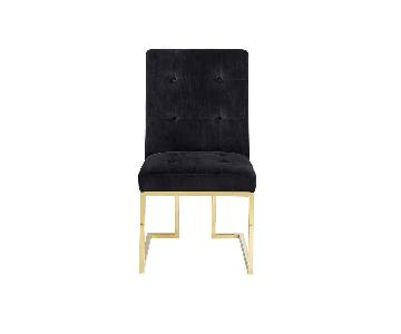TOV Furniture Akiko Black Velvet Dining Chairs