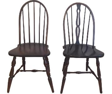 Antique Windsor Style Wood Dining Chairs