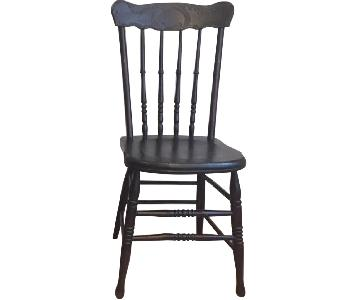 Antique New England American Country Wood Dining Chairs