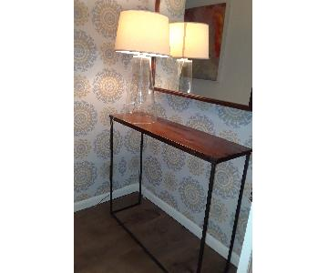 Mid Century Modern Console Table w/ Metal Legs