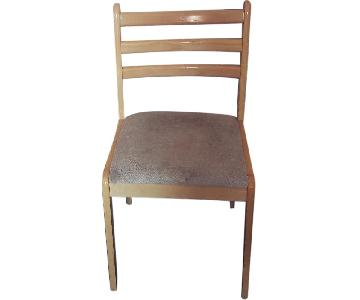 Natural Dining Chairs w/ Cushion