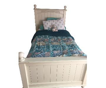 Twin Size White Bed Frame w/ Headboard