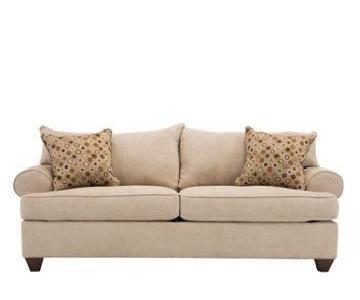 Raymour & Flanigan Vegas Stone Microfiber Sleeper Sofa
