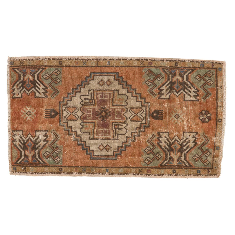 Vintage Distressed Oushak Rug Mat