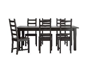 IKEA Stornas Extendable Dining Table w/ 6 Kaustby Chairs