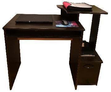 Black Wooden Writing Desk