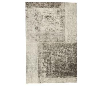 West Elm Distressed Rococo Wool Rug in Platinum