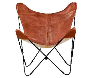 The Citizenry Black & Cognac Leather Butterfly Palermo Chair