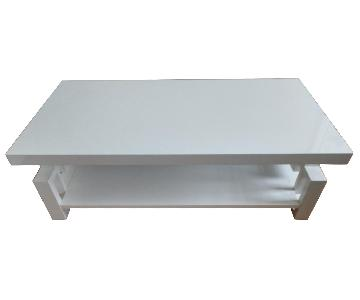 Modern White High Gloss Table