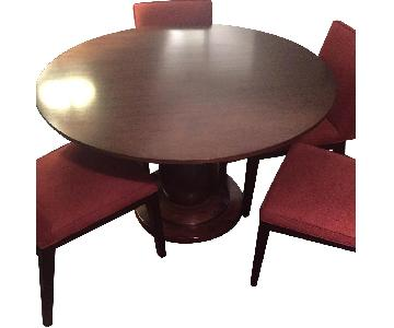 Room & Board Savanna Round Table w/ 4 Chairs