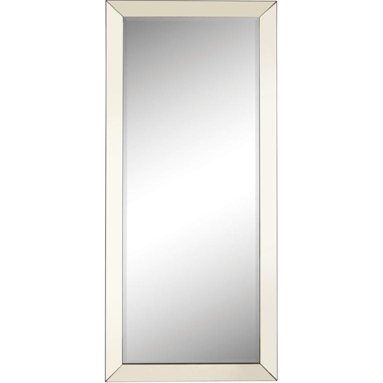 Contemporary Floor Mirror w/ Mirrored Frame
