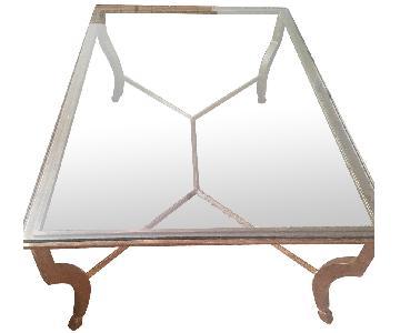 Bloomingdale's Glass & Metal Coffee Table