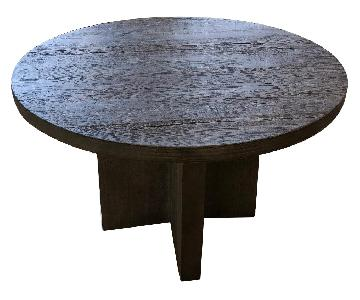 Restoration Hardware Reclaimed Russian Oak Plank Round Table