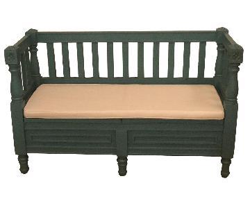 Turquoise Storage Bench