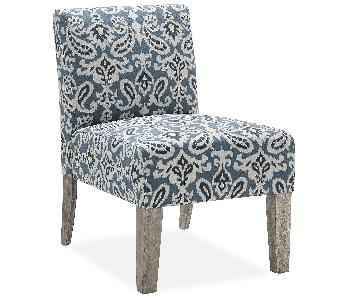 Andover Mills Blue & White Paisley Accent Chair