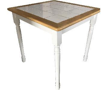 White Coffee Table w/ Tile Top