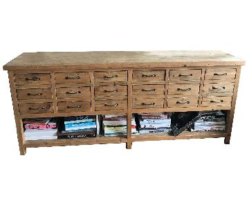 ABC Carpet and Home Recycled Wood 18 Mini-Drawer Sideboard