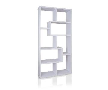 Furniture of America Verena Contoured Display Case/Bookshelf