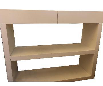 West Elm White Wood Bookshelf Console