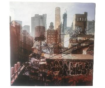 Double Exposure Photo - View of Manhattan in 2011