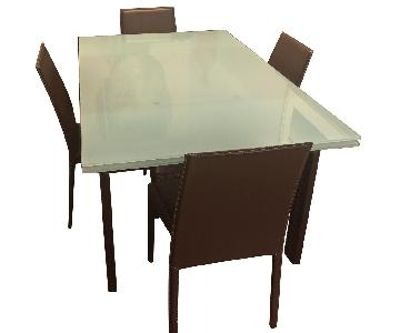 Calligaris Modulo Extension Table w/ 4 Matching Chairs