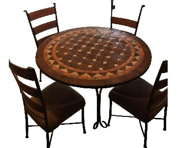 Fortunoff Round Dining Table w/ 4 Chairs