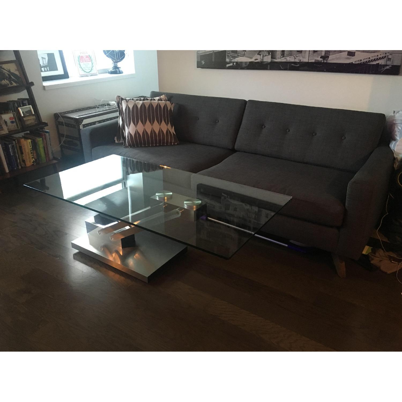 Lazzoni Modern Glass Coffee Table - AptDeco