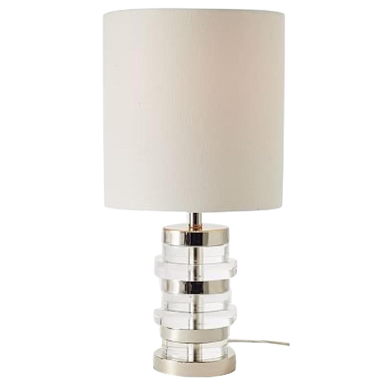 West elm clear disc small table lamp aptdeco west elm clear disc small table lamp aloadofball Choice Image