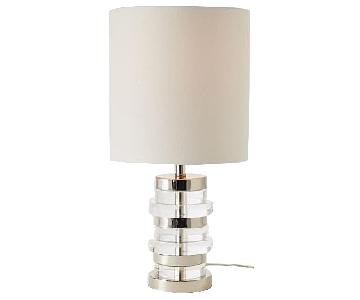West Elm Clear Disc Small Table Lamp