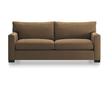 Crate & Barrel Axis II Brown Sofa