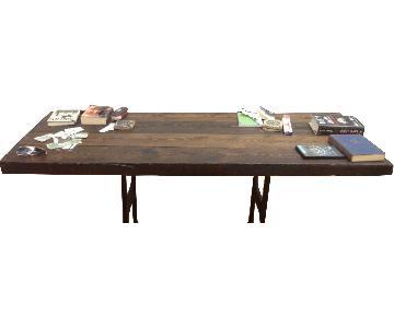 WRK Design Antique Wooden Dining Table