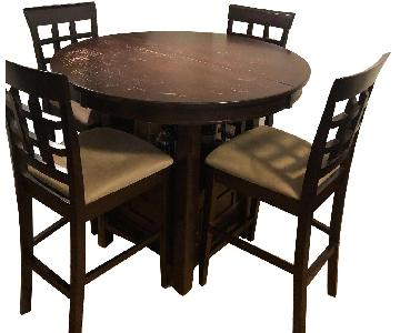 Winston Porter Counter Height Table w/ Storage & 4 Chairs