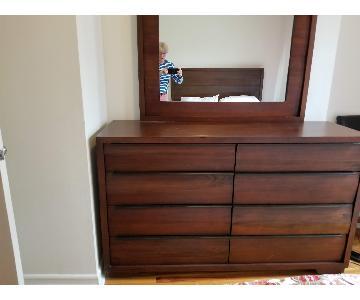 Macy's 8-Drawer Solid Wood Dresser w/ Mirror