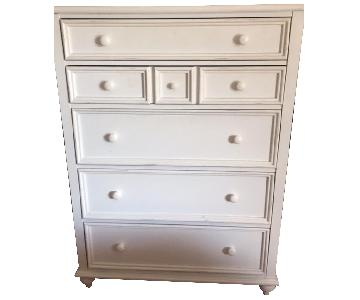 Raymour & Flanigan White Solid Wood Dresser