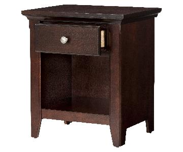 Target Threshold Avington Side Table in Dark Tobacco