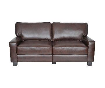 Serta Palisades Faux Leather Sofa in Espresso