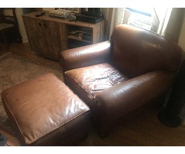 Ralph Lauren Leather Sofa + Chair & Ottoman