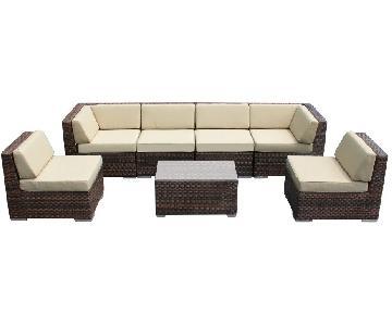 Ohana Depot 7 Piece Outdoor/Patio Sectional Sofa
